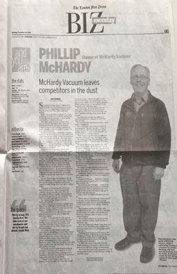 McHardy Vacuum 70th Anniversary London Free Press
