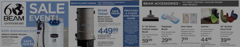 beam Central Vacuum Sale
