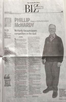 McHardy Vacuum 70th Anniversary London Free Press